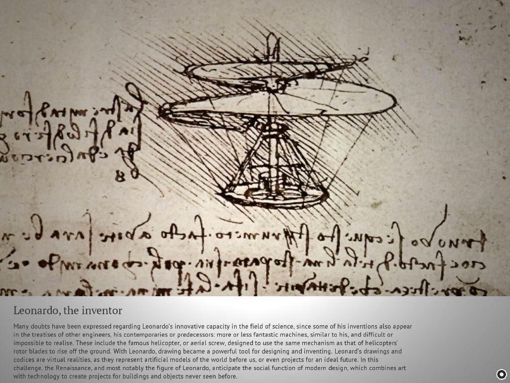 Elicottero Leonardo Da Vinci : Leonardo da vinci un viaggio nel mito hotel cavour