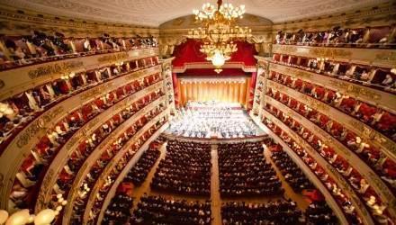 Filarmonica della scala.   Direttore e pianoforte, Daniel Baremboim.   Ph Andrea Mariniello